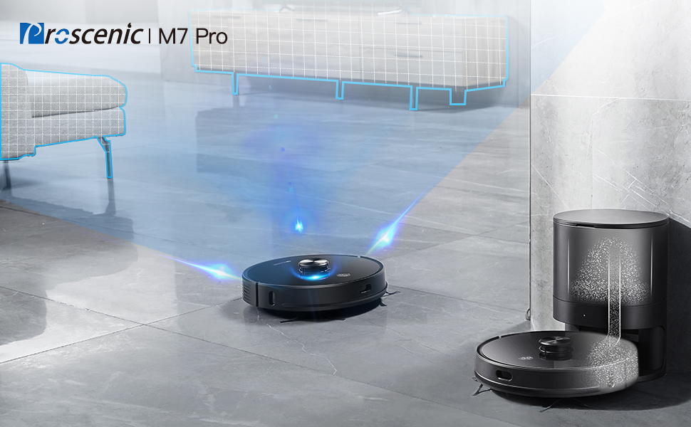 Proscenic M7 Pro Staubsauger Roboter
